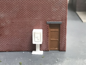 Payphone Booth- HO Scale in White Strong & Flexible