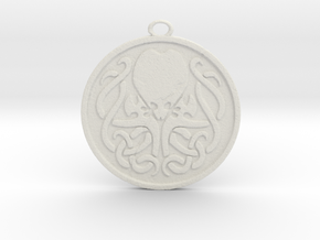 Cultist Amulet in White Strong & Flexible