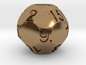 D17 Sphere Dice in Natural Brass