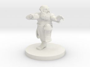 Dwarf Monk in White Natural Versatile Plastic