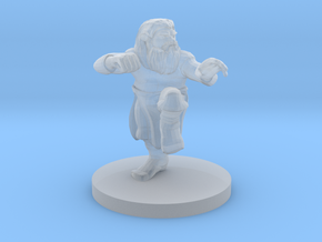Dwarf Monk with Glorious Hair in Smooth Fine Detail Plastic