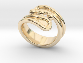 Threebubblesring 31 - Italian Size 31 in 14K Yellow Gold