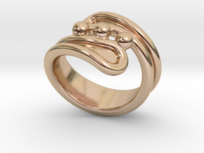 Threebubblesring 31 - Italian Size 31 in 14k Rose Gold Plated Brass