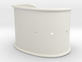 Cuff Band Only - Original Dimensions in White Natural Versatile Plastic