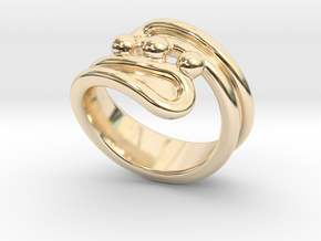 Threebubblesring 32 - Italian Size 32 in 14K Yellow Gold