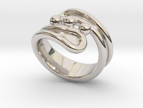 Threebubblesring 32 - Italian Size 32 in Rhodium Plated Brass
