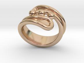 Threebubblesring 33 - Italian Size 33 in 14k Rose Gold Plated Brass