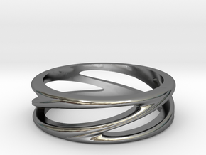 Matel Ring in Fine Detail Polished Silver