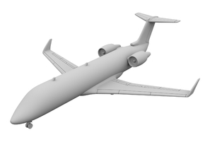 1:500 - CRJ_100 [Sprue] in Frosted Ultra Detail