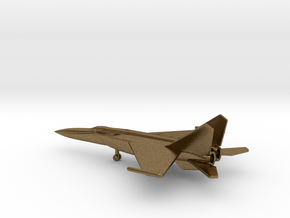 MiG-25PDS Foxbat-E in Natural Bronze: 6mm