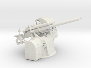 1/35 IJN 89 Type/40 (127mm) AA Gun Shield in White Natural Versatile Plastic