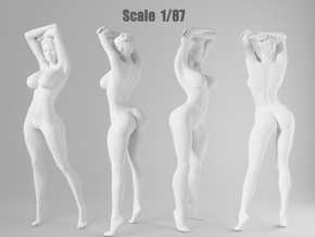 1:87 Sexy little girl in 2cm-008 in Frosted Extreme Detail