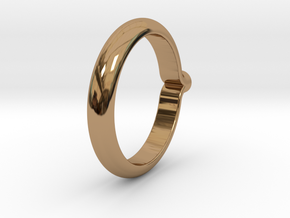 Shapesweeper Circular Basic Ring in Polished Brass: 4 / 46.5