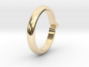 Shapesweeper Circular Basic Ring in 14k Gold Plated Brass: 4 / 46.5