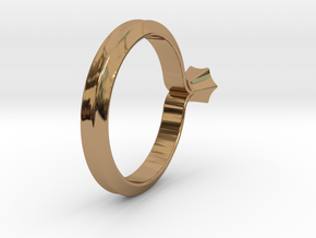 Shapesweeper Hexagonal Lofted Ring in Polished Brass: 4 / 46.5