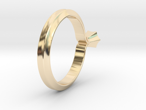 Shapesweeper Hexagonal Lofted Ring in 14k Gold Plated Brass: 4 / 46.5