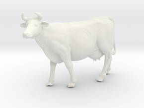 Printle Thing Cow - 1/32 in White Natural Versatile Plastic