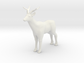 Printle Thing Deer - 1/32 in White Natural Versatile Plastic