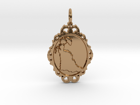 Victorian Cameo / Valentine's gift in Polished Brass