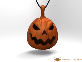 Jack O'Lantern Pendant 2.5cm in Orange Processed Versatile Plastic: Small