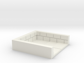 2x2_brick_stairdown in White Natural Versatile Plastic