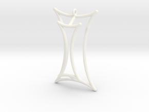 Talbot's Curve Pendant in White Processed Versatile Plastic