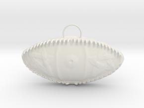 Pentigram Eye in White Natural Versatile Plastic