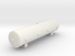 12-Gallon Air Ride Suspension Tank in White Natural Versatile Plastic: 1:25