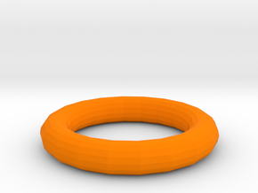 Torus in Orange Processed Versatile Plastic