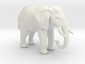 Printle Thing Elephant - 1/72 in White Natural Versatile Plastic