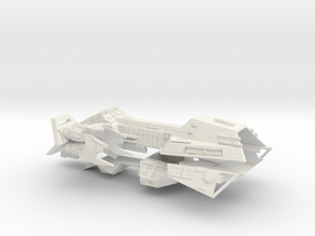 1/1000 Zann Consortium Interceptor IV Frigate in White Strong & Flexible