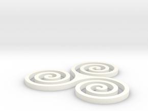 Coaster #2 - Celtic in White Processed Versatile Plastic