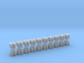 200 Liter 4 Fässer auf Europalette 10er Set - 1:12 in Smooth Fine Detail Plastic
