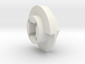 DX4 wheel adapter BS=12mm in White Natural Versatile Plastic
