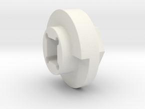 DX4 wheel adapter BS=14mm in White Strong & Flexible