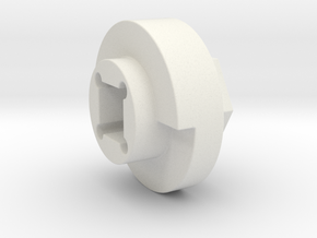 DX4 wheel adapter BS=15mm in White Natural Versatile Plastic