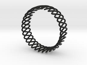 Spring Bracelet in Black Premium Versatile Plastic