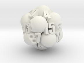 Ossuary d20 in White Premium Versatile Plastic
