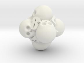 Ossuary d8 in White Premium Strong & Flexible