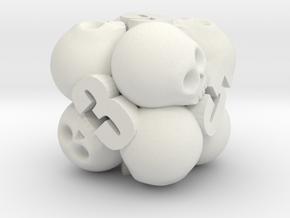 Ossuary d6 in White Premium Versatile Plastic