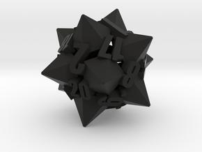 Dodecapentacone d20 in Black Premium Versatile Plastic