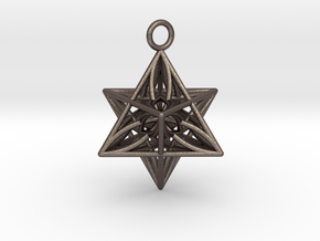 Pendant_Star of Life in Polished Bronzed Silver Steel