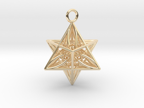 Pendant_Star of Life in 14k Gold Plated Brass