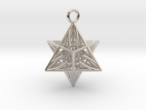 Pendant_Star of Life in Rhodium Plated Brass
