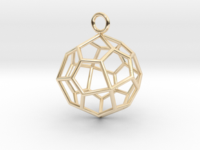 Pendant_Pentagonal-Icositetrahedron in 14k Gold Plated Brass