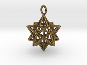 Pendant_Pentagram-Dodecahedron in Natural Bronze