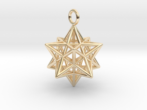 Pendant_Pentagram-Dodecahedron in 14k Gold Plated Brass