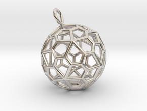 Pendant_Pentagonal-Hexecontahedron in Platinum