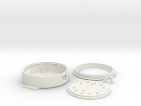 Circuit Playground Light Pipe Case with Buttons in White Natural Versatile Plastic