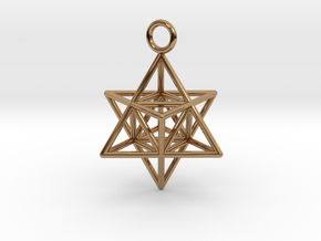 Pendant_Merkaba-Triforce in Polished Brass